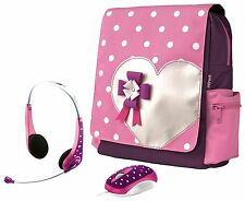 BRAND NEW TRUST 16890 HEARTS SCHOOL BAG MOUSE  & HEADSET, AUTHORISED TRUSTPOINT