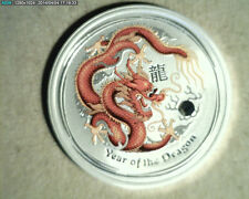 2012 Australia, Year of the Dragon, 1/2 oz Silver  (Aust-66)