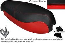 BLACK & RED CUSTOM FITS CAGIVA NUVOLA CUCCIOLO 125 DUAL LEATHER SEAT COVER