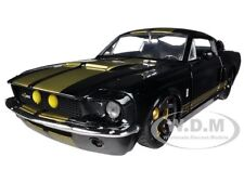 1967 FORD SHELBY MUSTANG GT-500 BLACK W/GOLD STRIPES 1/24 MODEL CAR JADA 90057