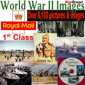 OVER 8100 World War II Photo's & Images on DVD
