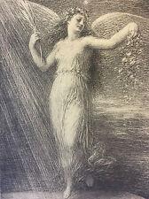 """Henri Fantin-Latour """"L'immortalité"""" lithographie 1898 L'estampe Moderne"""