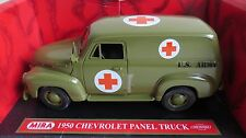 MIRA 1/18 6241 1950 CHEVROLET PANEL TRUCK US ARMY AMBULANCE BOXED RARE MINT