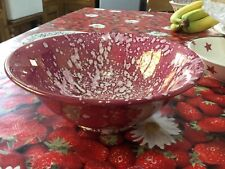 Emma Bridgewater LIBERTY Raspberry Lustre Footed Serving Dish New Best