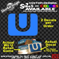 Wii U Nintendo logo Custom Vinyl sticker 3DS Wii U NES SNES N64 GC Contra Mario