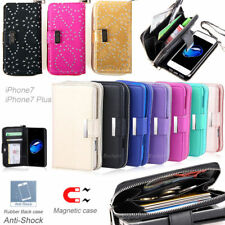 All in One Zip Purse Wallet Leather Case Cover For iPhone X SE 5 6 7 8 Plus