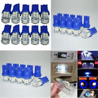 10Pcs T10 194 168 2825 5050 5SMD LED Super Bright Car Lights Lamp Bulb Blue 12V