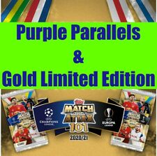 TOPPS MATCH ATTAX 101 CHAMPIONS EUROPA LEAGUE 2020 21 PURPLE & LIMITED EDITION