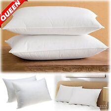 Queen Size BED PILLOWS Set Hypoallergenic Microfiber Comfort Sleep 2 PACK 20x30