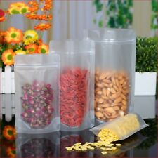 Matte Clear Food Grade Package Plastic Stand Up Pouch Bags for Zip Sealable Lock