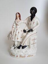 Antique Staffordshire Figure Uncle Tom & Eva C. 1860 Harriet Beecher Stowe