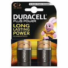 Duracell Plus Power Type C Alkaline Batteries - Pack of 2