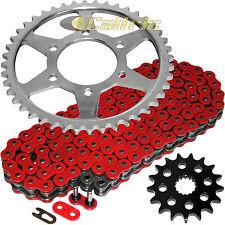 Red O-Ring Drive Chain & Sprockets Kit Fits KAWASAKI ZZR1200 Ninja ZX1200C 02-05