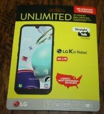 Brand New  Black Straight Talk LG K31 Rebel - 32GB 5.7 HD+ Prepaid Smartphone