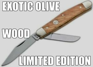"""EXOTIC """"BOKER"""" ANCIENT OLIVE WOOD SCALES; SPECIAL LIMITED EDITION KNIFE...NOS"""