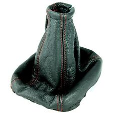 VAUXHALL VECTRA B TIGRA CALIBRA RED STITCH GEAR STICK GAITER BOOT LEATHER COVER