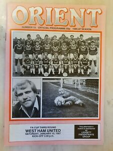 1987 FA CUP ORIENT v WEST HAM UNITED - 3rd Round 10th January