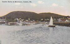 Camden, Me - Camden Harbor & Mountains