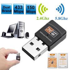 600Mbps Dualband WiFi USB Adapter Dongle WLAN Stick 802.11b/g/n 2.4GHz/5GHz 2dbi