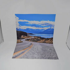 Model Car Backdrop Background Sheet 1:24 Scale Diorama Mountain Road New Zealand