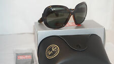 New Authentic RAY BAN Jackie Ohh II Havana/Green Lens RB4098 710/71 60