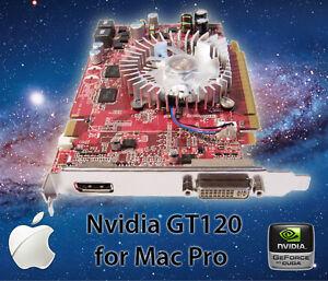 Apple Mac Pro Nvidia GT 120 512MB PCI-E Video Card  8800 GT 2600 XT Boot screen