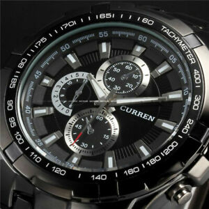 CURREN Mens Waterproof Army Military Date Quartz Wrist Watches Gifts
