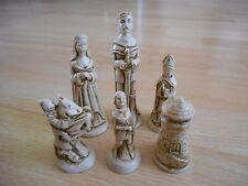 Mito/leyenda del rey arturo camelot/juego de ajedrez mágico Modelo De Resina Efecto de madera de teca & Ivory