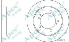 1x OE Quality Replacement Front Axle Apec Solid Brake Disc 5 Stud 289mm - Single