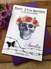 "Large Handmade Personalised ""Goth"" Birthday Card - Sister Daughter Friend"