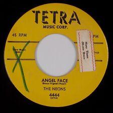 THE NEONS: Angel Face / Kiss Me Quickly TETRA Doo Wop R&B Rare 45 HEAR