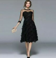 Black Runway Designer Inspired Mesh Special Occasion Wedding Cocktail Dress 10