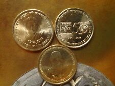India 5 Rupees 2014 3 different commemorative coins: Begum Akhtar, BHEL,J N Tata