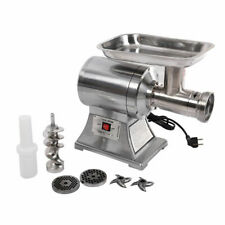 New Commercial  1HP Electric Meat Grinder No #12 Stainless Steel True