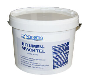 (2,97€/kg) Sanremo BITUMENSPACHTEL lösemittelfrei Spachtelmasse Bitumen 10kg