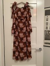 Ganni Floral Midi Dress Size 38 10-12 Excellent Condition