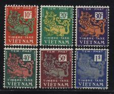 1952 South Vietnam Postage Due Stamps Temple Lion Sc # J1 - J6 MNH