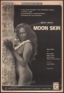 MOON SKIN__Orig. 1972 Trade Print AD / poster__ZEUDI ARAYA CRISTALDI_Beba Loncar