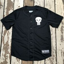 MARVEL • PUNISHER • Men's #74 Button Up Baseball Jersey size SMALL (34-36)