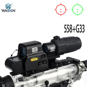 WADSN Sight HHS combination holographic 558 sight G33 magnifying glass