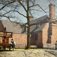 Postcard VA Public Gaol Prison Colonial Williamsburg Inc Runca 1954