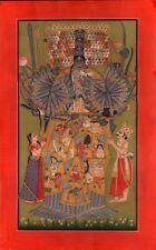 Krishna Vishvarupa Yoga Painting Handmade Indian Miniature Hindu Spiritual Art
