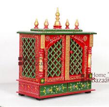 Home Mandir Pooja Ghar Mandap For Worship Wooden Handcrafted Hindu Temple KI-013