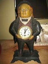"""BRADLEY HUBBARD JOHN BULL FIGURAL MOVING BLINKING EYE NOVELTY CLOCK """"WINKER"""""""