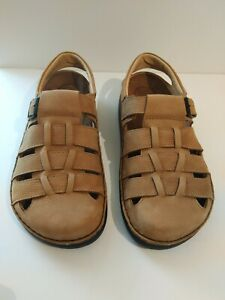 Footprints By Birkenstock Merced Brown Leather Fisherman Sandals 43/US 10/10.5