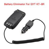 Car Charger Battery Eliminator DC 12V For QYT KT-8R Two Way FM Radio Transceiver