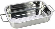 Large Stainless Steel Oven Roasting Cooking Baking Tray Dish 40 x 30cm