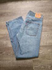 Levis 550 Blue Jeans Relaxed Fit Denim Boys 18 Reg (29 x 29) Light Wash