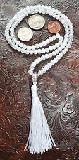 108 Crystal Quartz Handmade Mala Meditation 6mm Beads Necklace - Energized