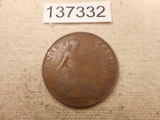 1918 KN Great Britain Penny Better Date - Collector Grade Album Coin - # 137332